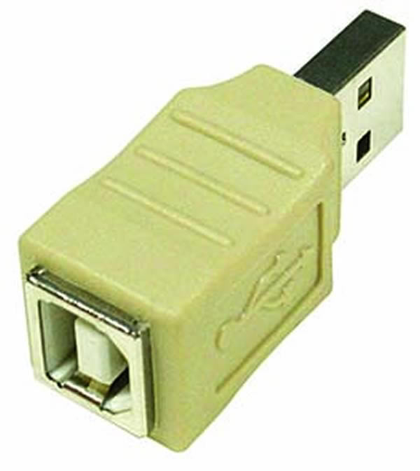USB Type A Male to B Female Adapter