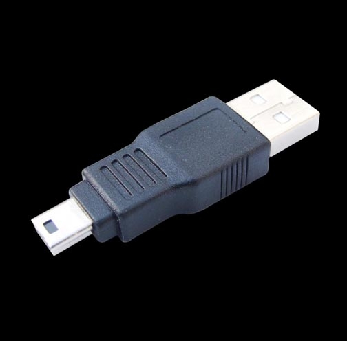 USB A Male to Mini 5P Male Adapter